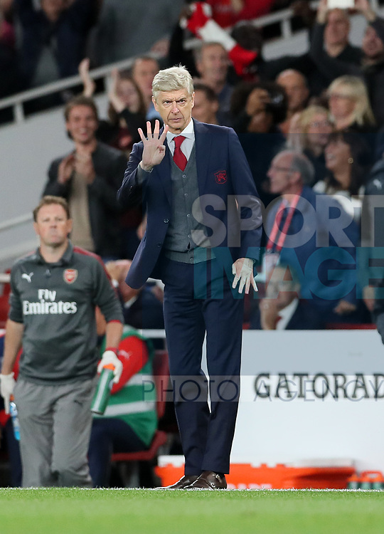 Arsenal's Arsene Wenger in action during the premier league match at the Emirates Stadium, London. Picture date 11th August 2017. Picture credit should read: David Klein/Sportimage