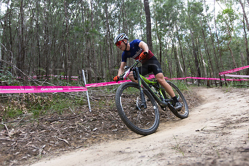 12th April 2018, Nerang Mountain Bike Trails, Gold Coast, Australia; Commonwealth Games day 8; Tristan De Lange (NAM) during the Men's Cross-country Mountain Bike Race