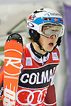 Henrik Kristoffersen competes during the FIS Alpine Ski World Cup Men's Slalom in Madonna di Campiglio, on December 22, 2015. Norway's Henrik Kristoffersen wins ahead of Marcel Hirscher and Marco Schwarz.