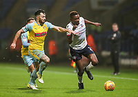 Bolton Wanderers' Sammy Ameobi competing with Rotherham United's Richie Towell<br /> <br /> Photographer Andrew Kearns/CameraSport<br /> <br /> The EFL Sky Bet Championship - Bolton Wanderers v Rotherham United - Wednesday 26th December 2018 - University of Bolton Stadium - Bolton<br /> <br /> World Copyright &copy; 2018 CameraSport. All rights reserved. 43 Linden Ave. Countesthorpe. Leicester. England. LE8 5PG - Tel: +44 (0) 116 277 4147 - admin@camerasport.com - www.camerasport.com