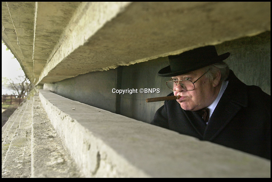 BNPS.co.uk (01202 558833)<br /> Pic: LauraJones/BNPS<br /> <br /> Churchill lookalike Graham Gadd looks out from Fort Henry.<br /> <br /> Seven amphibious tanks which sunk during a crucial rehearsal for the D-Day landings off the south coast of England have been examined by underwater archaeologists as part of a project to commemorate the six soldiers who drowned in the operation.<br /> <br /> The remains of the Valentine Duplex Drive (DD) tanks still lie on the seabed 73 years after Operation Smash took place on April 4, 1944 on Studland Bay in Dorset.<br /> <br /> All seven tanks have been photographed by divers from the Isle of Purbeck Sub Aqua Club for the Valentine 75 exhibition which will mark the 75th anniversary of the exercise.<br /> <br /> The divers found that the hulls of the tanks are all relatively intact and there are significant debris fields around each one. Most tanks have at least part of the turret and the guns seem to have survived.