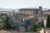 View over Perugia from the Torre del Cassero in Porta Sant' Angelo, Perugia, Italy