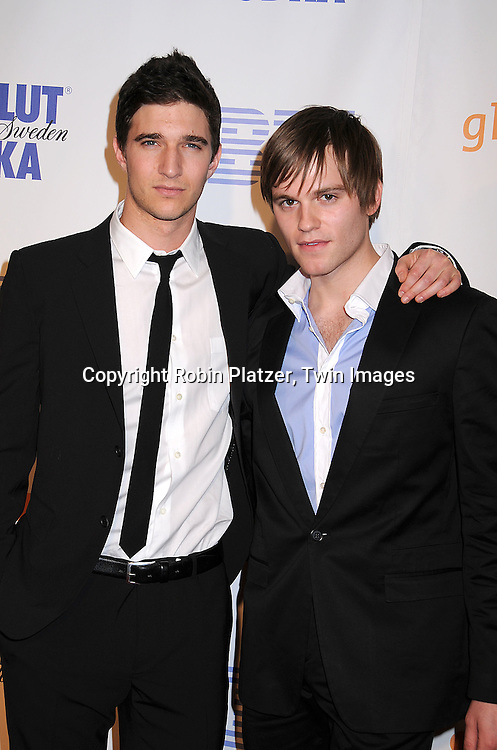 Jake Silbermann and Van Hansis of As The World Turns.posing for photographers at the 19th Annual GLAAD Media Awards on March 17, 2008 at The Marriott Marquis Hotel in New York City. .Robin Platzer, Twin Images
