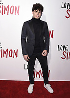 "LOS ANGELES, CA - MARCH 13: Emery Kelly  at the special screening of 20th Century Fox's ""Love, Simon"" at Westfield Century City on March 13, 2018 in Los Angeles, California. (Photo by Scott Kirkland/PictureGroup)"