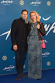 London, UK. 19 January 2016. Brendan Cole and Zoe Hobbs. Celebrities arrive on the red carpet for the London premiere of Amaluna, the latest show of Cirque du Soleil, at the Royal Albert Hall.