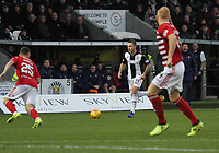 Lee Hodson attacking in the St Mirren v Hamilton Academical Scottish Professional Football League Ladbrokes Premiership match played at the Simple Digital Arena, Paisley on 1.12.18.