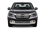 Car photography straight front view of a 2019 Honda Ridgeline RTL-T 4 Door Pick Up