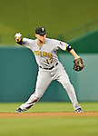 16 May 2012: Pittsburgh Pirates infielder Clint Barmes in action against the Washington Nationals at Nationals Park in Washington, DC. The Nationals defeated the Pirates 7-4 in the first game of their 2-game series. Mandatory Credit: Ed Wolfstein Photo