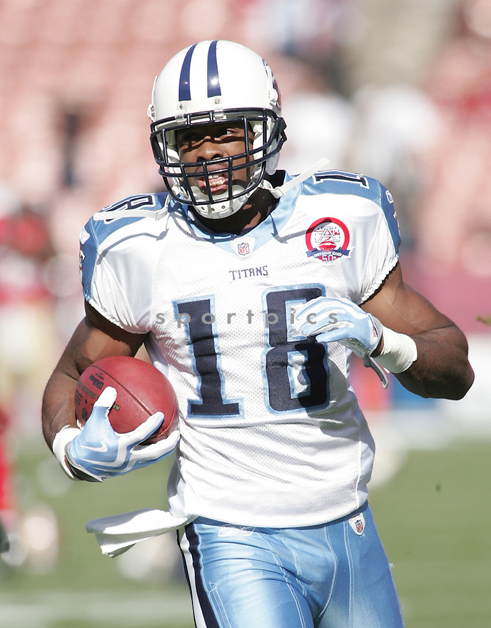 KENNY BRITT, of the Tennessee Titans  in action  during the Titans game against the San Francisco 49ers  on November 8, 2009 in San Francisco, CA...The Titans beat the 49ers  34-27