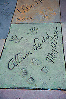 Grauman's, Chinese, Theatre,  Alan Ladd, Movie Star, Hand - Footprint, Impressions, Hollywood,  CA