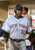 Washington, D.C. - April 29, 2005 -- New York Mets outfielder Cliff Floyd (30) walks through the dugout as he prepares to bat in action against the Washington Nationals at RFK Stadium in Washington, D.C. on April 29, 2005.  The game marks the Mets first-ever regular - season appearance in Washington..Credit: Ron Sachs- CNP.(RESTRICTION: NO New York or New Jersey Newspapers or newspapers within a 75 mile radius of New York City)