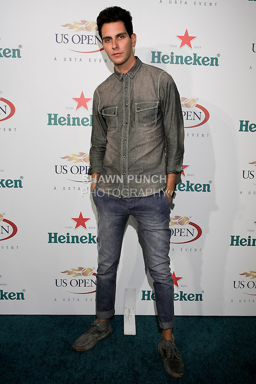 Gabe Saporta arrives at the US Open Player Party at The Empire Hotel, August 27, 2010.