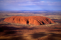 Aerial View of Uluru  (Ayers Rock), Australia
