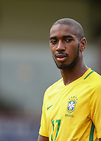 Gerson of Brazil during the International match between England U20 and Brazil U20 at the Aggborough Stadium, Kidderminster, England on 4 September 2016. Photo by Andy Rowland / PRiME Media Images.