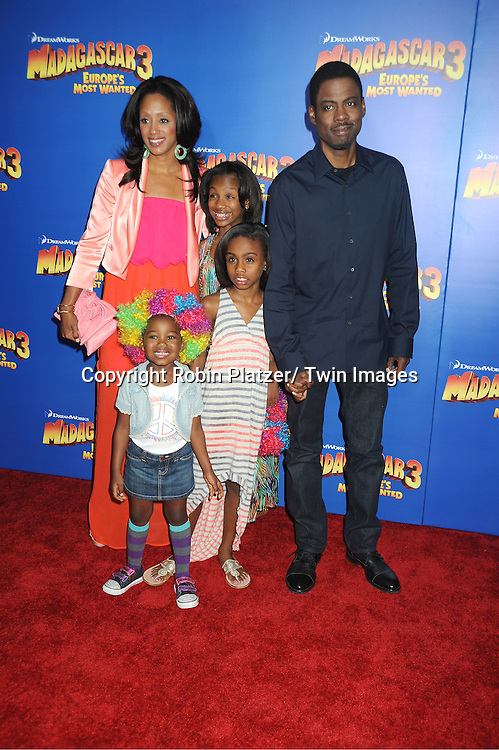 "Chris Rock and family attends the ""Madagascar 3:  Europe's Most Wanted""  New York Premiere on June 7, 2012 at The Ziegfeld Theatre in New York City."