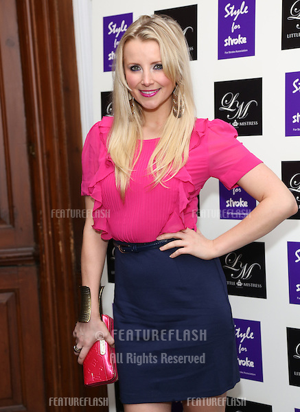 Carley Stenson arriving for the Style for Stroke Party, 5 Cavendish Square, London. 02/10/2012 Picture by: Henry Harris  / Featureflash