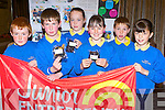 Selling seaweed was the pupils from Scoil Cheamntra, Ventry business at the Junior Entrepreneur awards in the Malton Hotel Killarney on Wednesday l-r: Niall Browne, Tadhg O Murchú, Orla Ní Dhufaigh, Aislin Ní Chonchúir, dean McAmhlaoibh, and Georgia Hassett