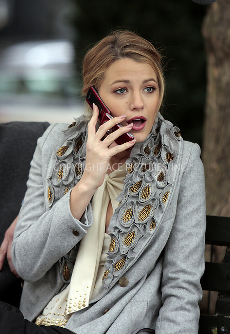 WWW.ACEPIXS.COM . . . . .  ....October 14 2009, New York City....Actress Blake Lively on the set of the TV show 'Gossip Girl' on October 14 2009 in New York City....Please byline: AJ Sokalner - ACEPIXS.COM..... *** ***..Ace Pictures, Inc:  ..tel: (212) 243 8787..e-mail: info@acepixs.com..web: http://www.acepixs.com