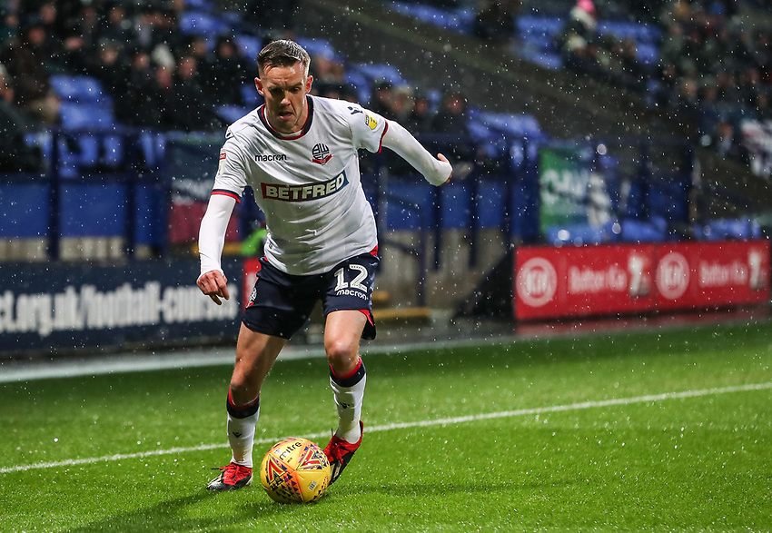Bolton Wanderers' Craig Noone breaks<br /> <br /> Photographer Andrew Kearns/CameraSport<br /> <br /> The EFL Sky Bet Championship - Bolton Wanderers v Leeds United - Saturday 15th December 2018 - University of Bolton Stadium - Bolton<br /> <br /> World Copyright © 2018 CameraSport. All rights reserved. 43 Linden Ave. Countesthorpe. Leicester. England. LE8 5PG - Tel: +44 (0) 116 277 4147 - admin@camerasport.com - www.camerasport.com