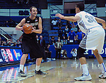 January 20, 2015 - Colorado Springs, Colorado, U.S. -  San Diego State forward, Matt Shrigley #40, looks to pass during a Mountain West Conference match-up between the San Diego State Aztecs and the Air Force Academy Falcons at Clune Arena, U.S. Air Force Academy, Colorado Springs, Colorado.  San Diego State defeats Air Force 77-45.