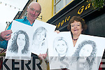 PORTRAITS: Michael O'Regan and Joan O'Regan of the Snuggie Gallery with a selection of the limited edition sketches of all of this year's Rose of Tralee contestants.   Copyright Kerry's Eye 2008