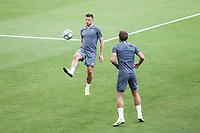 Players of Tottenham Hotspur attend a training ahead of the UEFA Champions League match against Olympiacos FC, in Karaiskaki Stadium in Piraeus, Greece. Tuesday 17 September 2019