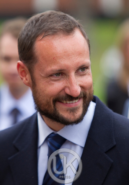 Crown Prince Haakon and Crown Princess Mette-Marit of Norway visit Evjeklinikken at Evje og Hornnes during a  three day visit, to the county of Aust-Agder in Southern Norway