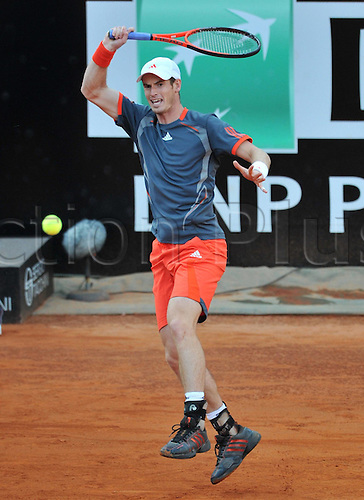 16.05.2012 Rome, Italy. BNP Paribas Open. Andy Murray of Britain during The Second Round Match against David Nalbandian.