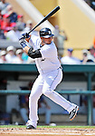 9 March 2012: Detroit Tigers infielder Jhonny Peralta in action during a Spring Training game against the Philadelphia Phillies at Joker Marchant Stadium in Lakeland, Florida. The Phillies defeated the Tigers 7-5 in Grapefruit League action. Mandatory Credit: Ed Wolfstein Photo