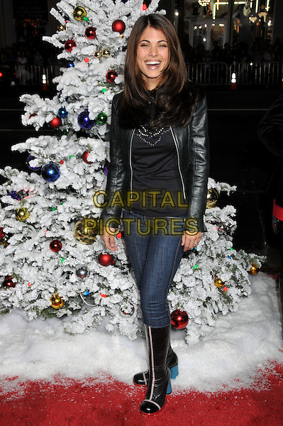 "LINDSAY HARTLEY.""Four Christmases"" World Premiere at Grauman's Chinese Theatre, Hollywood, CA, USA..November 20th, 2008.4 full length black leather jacket boots top jeans denim tucked in boots .CAP/ADM/BP.©Byron Purvis/AdMedia/Capital Pictures."