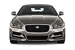 Car photography straight front view of a 2017 Jaguar XE 4dr-Sdn-20d-R-Sport-RWD 4 Door Sedan Front View
