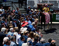 ELMONT, NY - JUNE 09: The connections of #3, Monomoy Girl celebrate her victory in the Acorn Stakes on Belmont Stakes Day at Belmont Park on June 9, 2018 in Elmont, New York. (Photo by Scott Serio/Eclipse Sportswire/Getty Images)