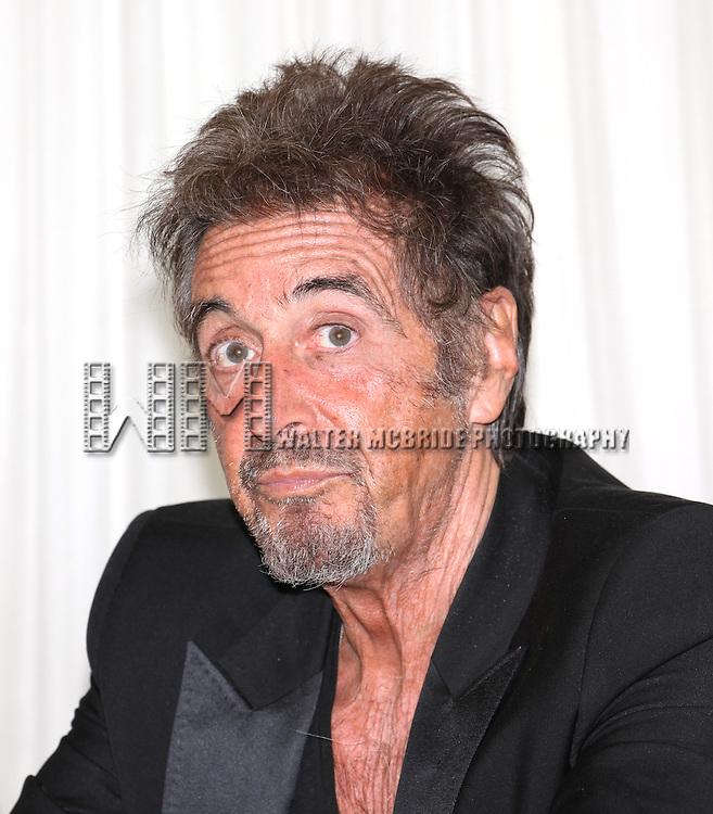 Al Pacino attending the 'Glengarry Glen Ross' Media Day at Ballet Hispanico Rehearsal Studios in New York City on 9/19/2012.