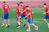 Spain's Thiago Alcantara, Gerard Pique, Jordi Alba and Aritz Aduriz during training session. October 2,2017.(ALTERPHOTOS/Acero)<br /> <br /> Foto Alterphotos / Insidefoto <br /> ITALY ONLY