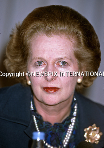 "MARGARET THATCHER DIES AGED 87-YEAR-OLD..MARGARET THATCHER.Election Campaign, London, England_June 1983.Mandatory credit photo:©Francis Dias/NEWSPIX INTERNATIONAL..**ALL FEES PAYABLE TO: ""NEWSPIX INTERNATIONAL""**..PHOTO CREDIT MANDATORY!!: NEWSPIX INTERNATIONAL(Failure to credit will incur a surcharge of 100% of reproduction fees)..IMMEDIATE CONFIRMATION OF USAGE REQUIRED:.Newspix International, 31 Chinnery Hill, Bishop's Stortford, ENGLAND CM23 3PS.Tel:+441279 324672  ; Fax: +441279656877.Mobile:  0777568 1153.e-mail: info@newspixinternational.co.uk"