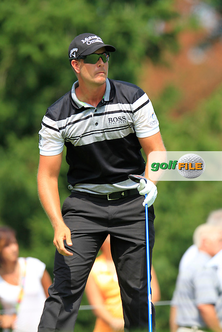 Henrik STENSON (SWE) tees off the 4th tee during Sunday's Final Round to win the WGC Bridgestone Invitational, held at the Firestone Country Club, Akron, Ohio.: Picture Eoin Clarke, www.golffile.ie: 3rd August 2014