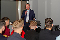 Pictured: Swansea City Chairman Trevor Birch speaks during the Swansea City Academy presentation night at the liberty stadium, Swansea, Wales, UK. Thursday 24th October 2019
