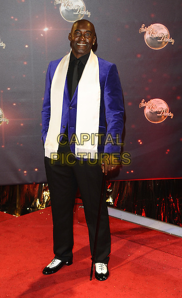 Patrick Robinson<br /> The red carpet launch for 'Strictly Come Dancing' at Elstree Studios, Borehamwood, England.<br /> September 3rd, 2013<br /> full length black blue white shirt tie jacket scarf <br /> CAP/FIN<br /> &copy;Steve Finn/Capital Pictures