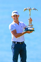 Joakim Lagergren (SWE) with the trophy after the final round of the Rocco Forte Sicilian Open played at Verdura Resort, Agrigento, Sicily, Italy 13/05/2018.<br /> Picture: Golffile | Phil Inglis<br /> <br /> <br /> All photo usage must carry mandatory copyright credit (&copy; Golffile | Phil Inglis)