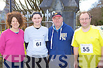 Margaret O'Leary, Triona Griffin Gneeveguilla, Mike and John Murphy Scartaglen who competed in the Gneeveguilla AC road race in Killarney on Saturday morning.