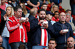Fans eat their food during the Championship League match at Bramall Lane Stadium, Sheffield. Picture date 19th August 2017. Picture credit should read: Simon Bellis/Sportimage