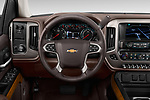 Car pictures of steering wheel view of a 2018 Chevrolet Silverado-1500 High-Country-Crew 4 Door Pickup Steering Wheel