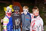 Chloe Mangan, JAck O'Grady, Finn Killington and Luke Jackson at the  Knocknagoshel Halloween festival on Sunday night