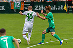 07.07.2019, Parkstadion, Zell am Ziller, AUT, PSP SV WERDER BREMEN vs WSG SWAROVSKI TIROL<br /> <br /> im Bild / picture shows <br /> <br /> LUKAS GRGIC (WSG Tirol #46)<br /> Yuya Osako (Werder Bremen #08)<br /> <br /> <br /> Foto © nordphoto / Kokenge