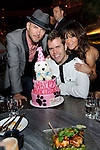 Perez Hilton with Matt Goss, and Robin Antin at his birthday celebration at TAO Nightclub, Las Vegas, NV, April 1, 2010 © Al Powers / RETNA ltd