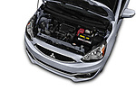 Car Stock 2018 Mitsubishi Mirage SE 5 Door Hatchback Engine  high angle detail view