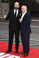 Johnny Harris and Barry McGuigan<br /> at the &quot;Jawbone&quot; premiere held at the bfi, South Bank, London. <br /> <br /> <br /> &copy;Ash Knotek  D3263  08/05/2017