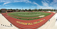 Composite photo. View of Kemp Stadium, Patterson Field and the Bill Henry Track, April 18, 2019.<br />
