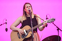 Gabrielle Shonk performs on the main stage of the Festival d'ete de Quebec (FEQ) in Quebec city Monday July 10, 2017.