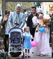 NEW YORK, NY October 31, 2017  Alec Baldwin, Carmen Baldwin, Hilaria<br /> Thomas, Leonardo Angel Charles Badwin,,dress for Halloween in New York October 31,  2017. Credit:RW/MediaPunch
